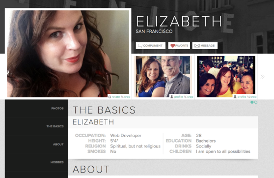Gorgeous user profile design